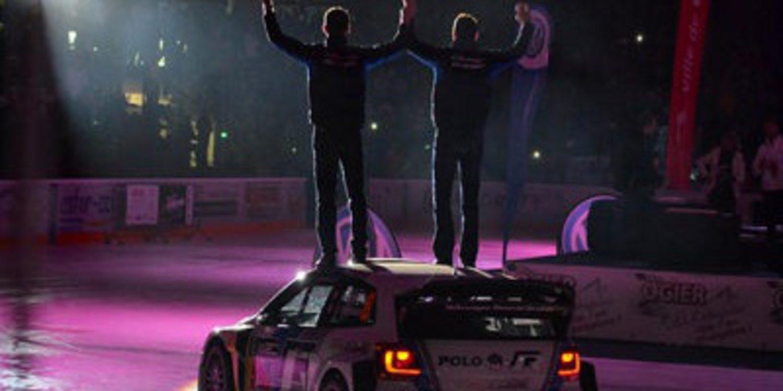 Sebastien Ogier celebra el título del WRC en Gap