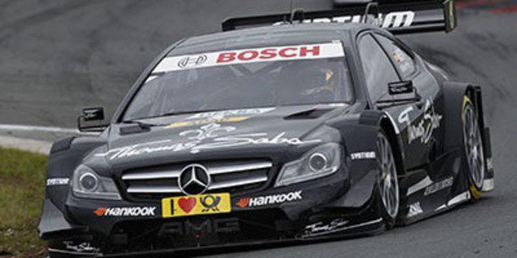 Jaime Alguersuari y Calado prueban el Mercedes DTM