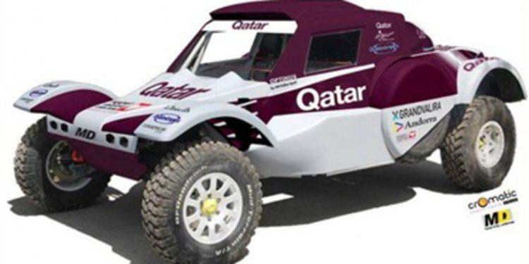 Albert Llovera con un buggy en el Dakar 2014