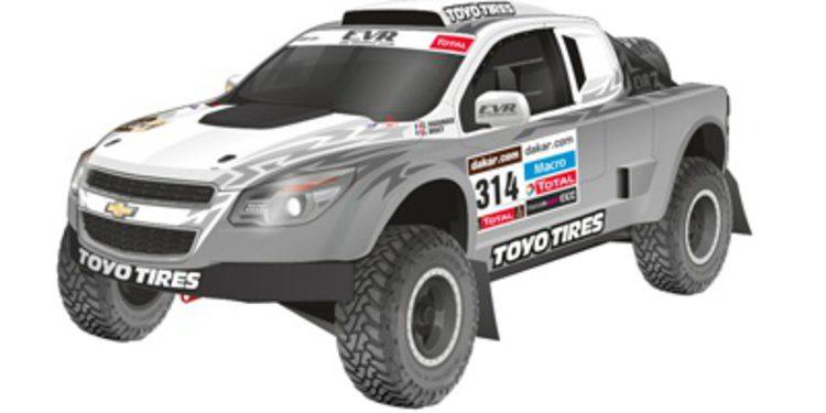 Vigouroux y el Chevrolet EVR Proto VX-101 del Dakar 2014