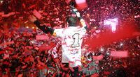 El gran día de celebración de Marc Márquez en Cervera