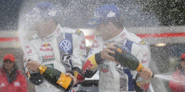 El podio del Rally de Montecarlo del WRC 2014