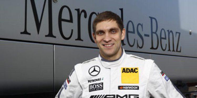 Vitaly Petrov de test con Mercedes DTM en Portimao