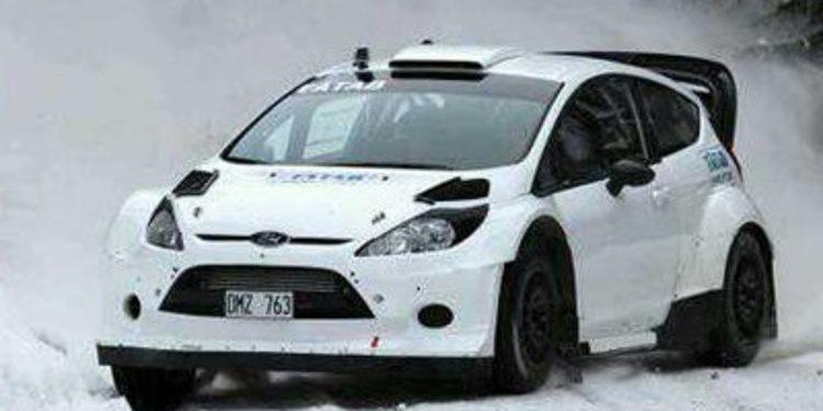 Pontus Tidemand prepara el Rally de Suecia en la nieve