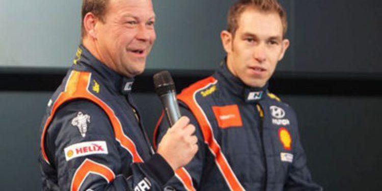 Chris Atkinson en el segundo Hyundai i20 WRC en México
