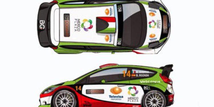 Benito Guerra en el Rally de México con un Fiesta RS WRC