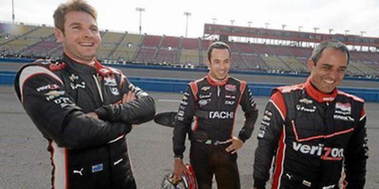 Equipos IndyCar con motor Chevrolet de test en Fontana