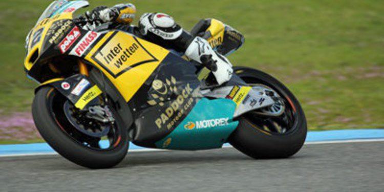 Lüthi y Miller lideran Moto2 y Moto3 en el segundo día en Jerez
