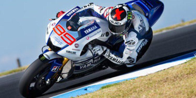 Jorge Lorenzo repite en el segundo día de test MotoGP en Australia