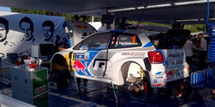 Sebastien Ogier scratch en el SS1 del Rally de México