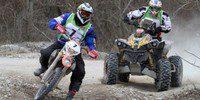 Victoria Boris Gadasin en coches y Vanni Cominotto en motos hoy en la Baja Italia