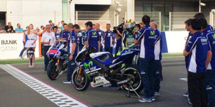 Así es la Yamaha M1 MotoGP con los colores de Movistar