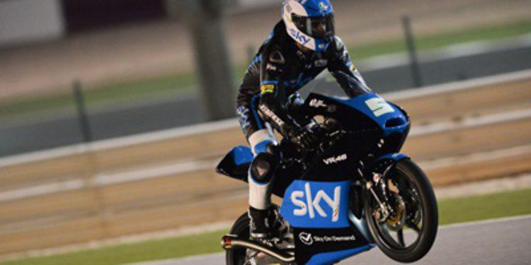 Tres de tres para Romano Fenati en los libres de Moto3 en Doha