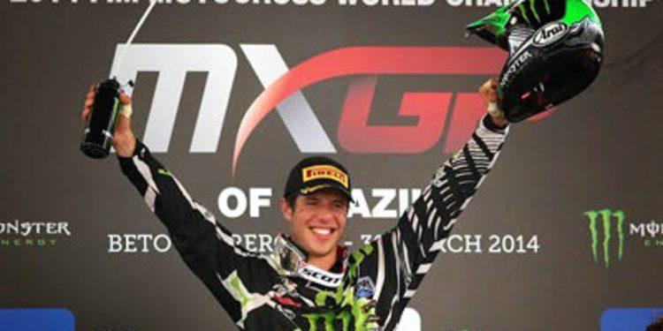 Arnaud Tonus vence el GP de Brasil en MX2