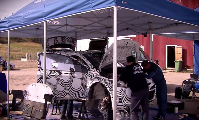 Test del Hyundai i20 WRC en Finlandia