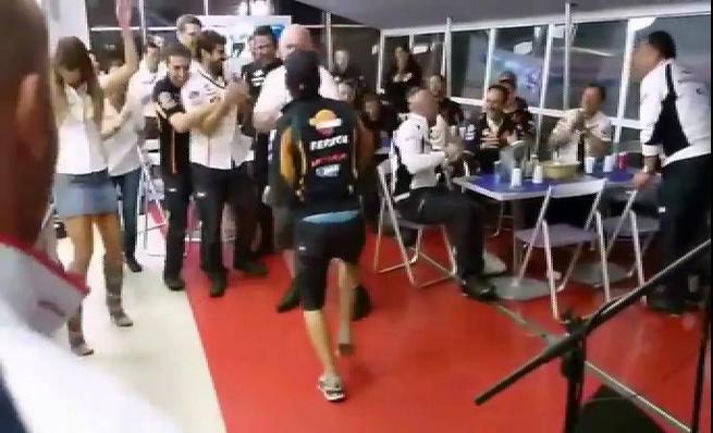 Marc Márquez y el Repsol Honda a ritmo de Rock&Roll en Misano