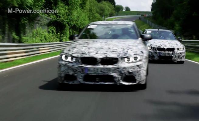Los nuevos BMW M3 y M4 jugando en Nürburgring