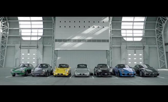 La melodía de las 7 generaciones del Porsche 911