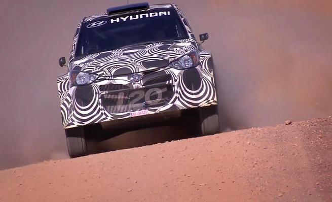 Test en grava del Hyundai i20 WRC en el sur de España