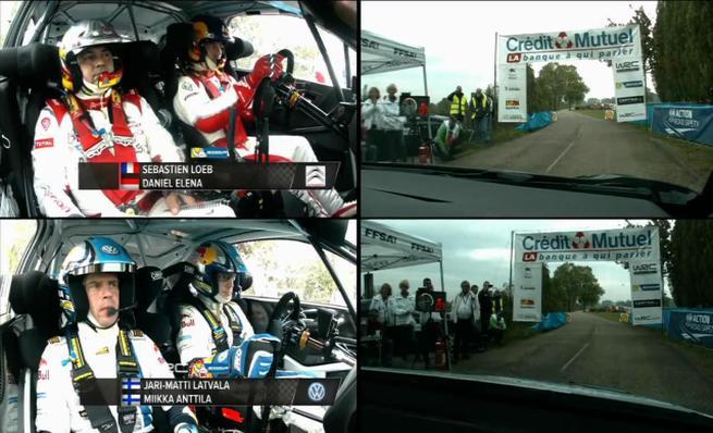 Jari-Matti Latvala vs Sebastien Loeb - SS5 Rally Francia