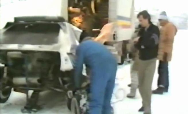 Lancia delta S4, primeras pruebas sobre nieve