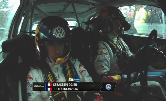 On board Sebastien Ogier - SS04 Rally de Montecarlo 2014
