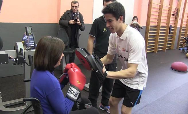 Marc Márquez apoya al deporte para gente con movilidad reducida