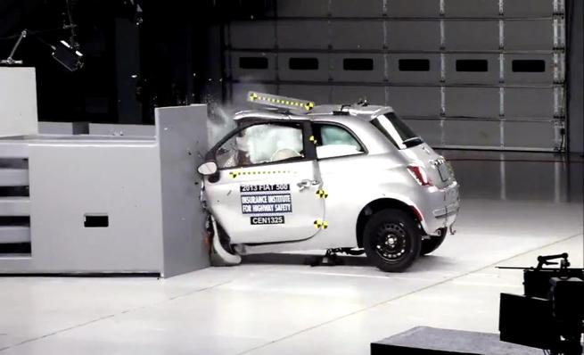 Crash test IIHS: Fiat 500