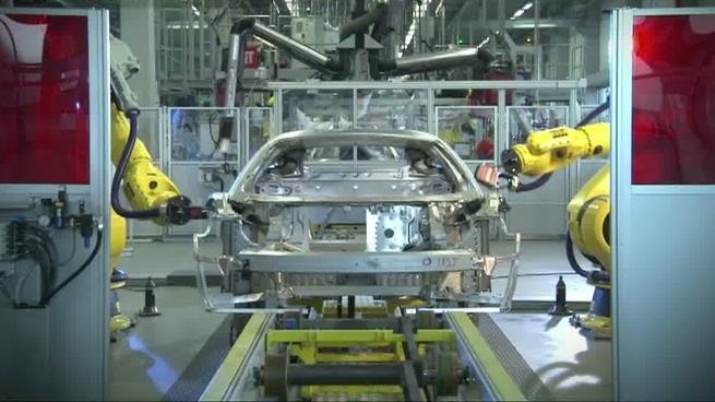 Chasis del V12 que Ferrari presentará en Ginebra