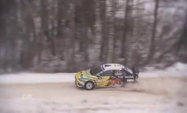 Vitaliy Puskhar a 3 ruedas en el Rally Liepaja