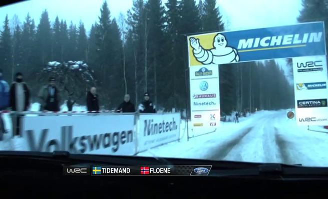 On board Pontus Tidemand - SS08 Rally Suecia 2014