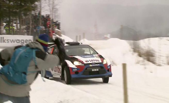 Robert Kubica en el Rally de Suecia 2014
