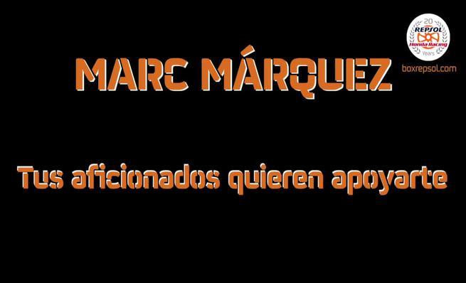 La afición apoya a Marc Márquez con su lesión