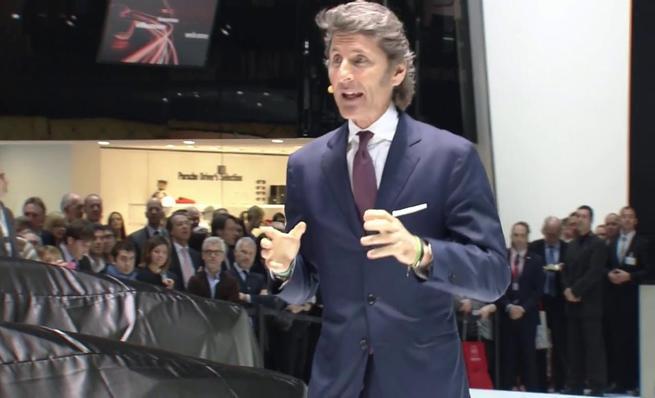 Conferencia de prensa Lamborghini en Ginebra 2014