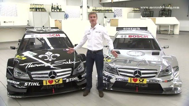 David Coulthard nos muestra el Mercedes AMG C-Coupé DTM 2012
