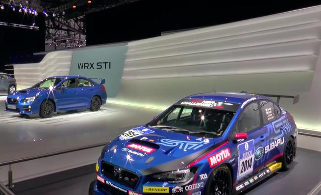 Subaru WRX Sti Racing Car en Ginebra 2014