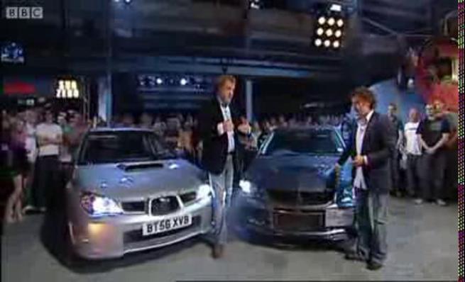 Top Gear: Mitsubishi Evo IX vs Subaru Impreza WRX