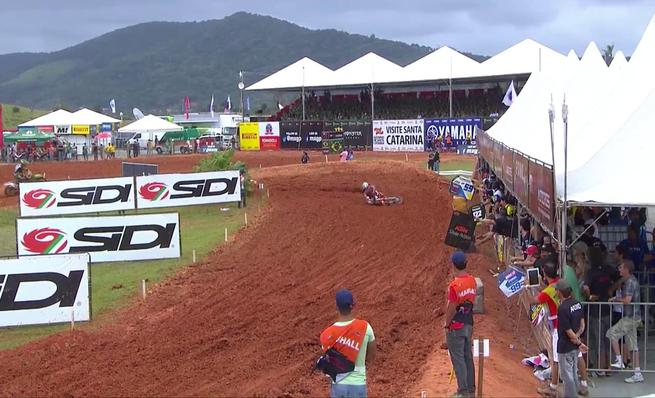 Accidente de José Butrón en el GP de Brasil de MX2