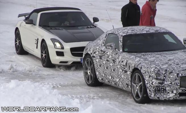 Prototipos del Mercedes AMG GT en la nieve