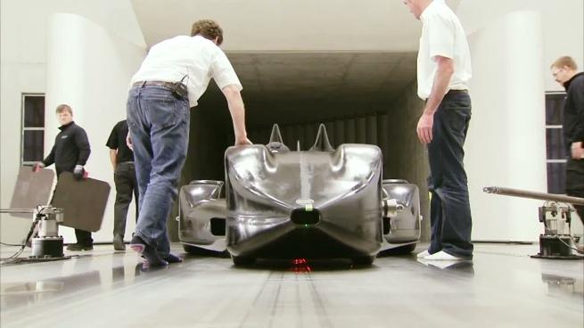 Nissan DeltaWing en el túnel de viento