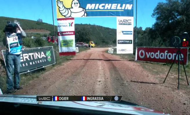 On board Sebastien Ogier - SS16 Rally Portugal 2014