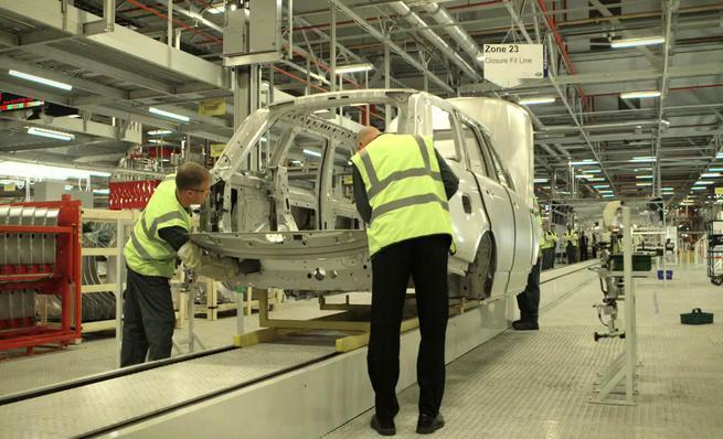 Proceso de fabricación del Range Rover