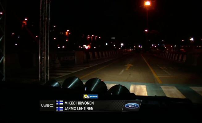 On board Mikko Hirvonen - SS1 Rally de Cerdeña 2014