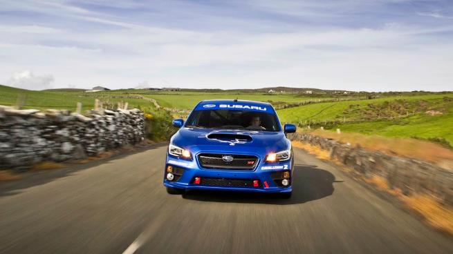 Asi fue la vuelta record del Subaru STI en Isla de Man