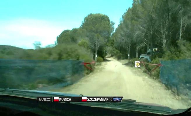 On board Robert Kubica - SS6 Rally de Cerdeña 2014