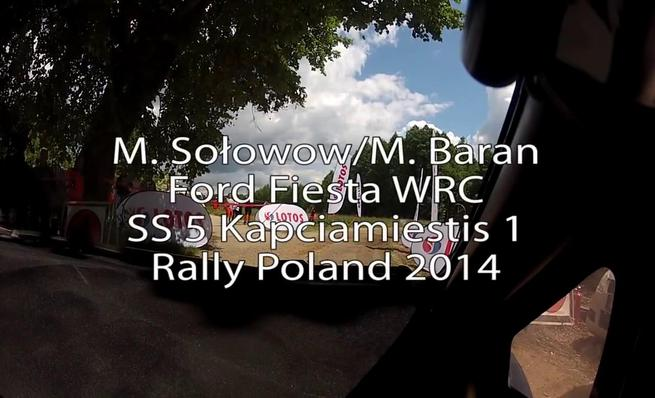 On board Michal Solowow - Accidente SS5 Rally de Polonia 2014
