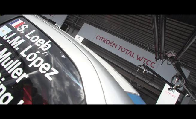 Carlos Tavares, presidente de PSA, en el Citroën C-Elysée del WTCC