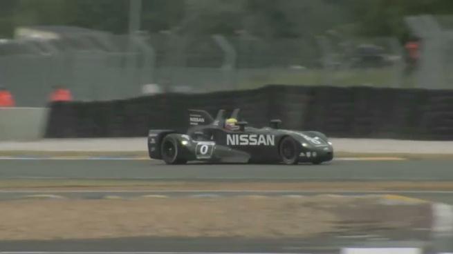 El Nissan DeltaWing rueda en los test de Le Mans