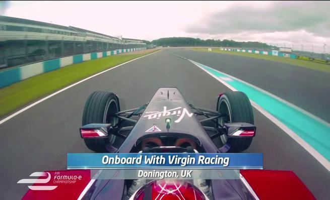 Vuelta on board Virgin Racing en los test de Formula E