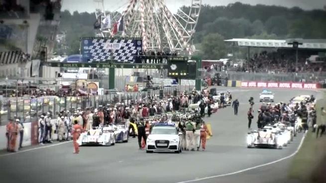 Nissan en la salida de las 24 horas de Le Mans 2012